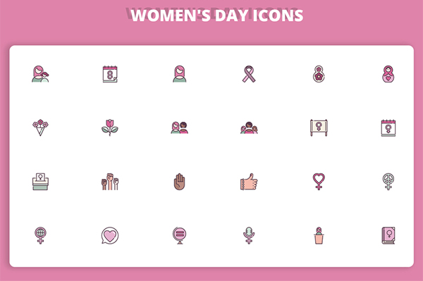 Woman's Day Icons