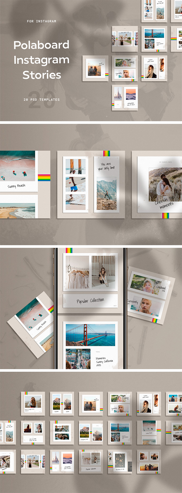 Polaboard Instagram Templates