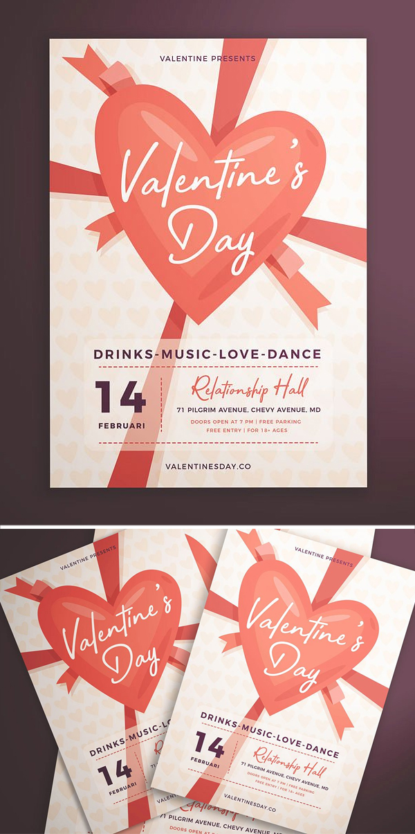 Creative Valentine's Day Flyer