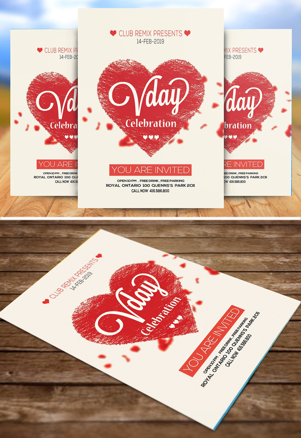 Valentine's Day Celebration Flyer