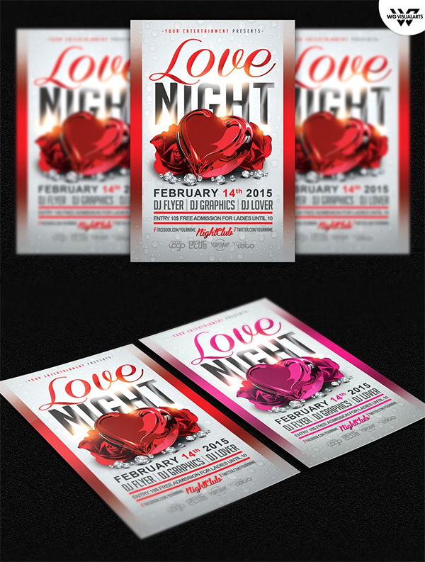 Love Night Flyer Template