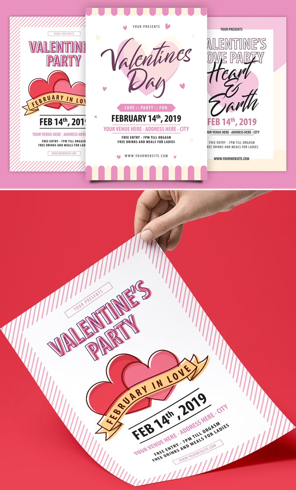 Valentine's Day Flyer Package