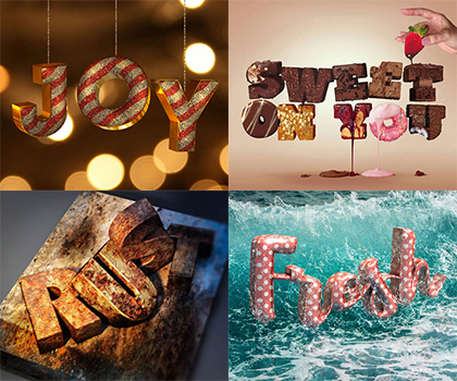 50 Amazing Stylish Text Effect Photoshop Tutorials