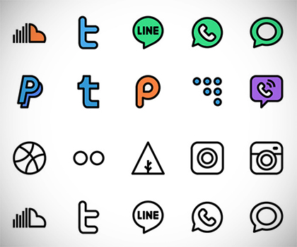 Free Icons : 40 Modern Useful Icon Sets For Designers