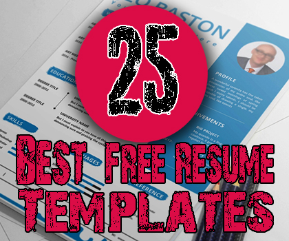 25 Best Free Resume Templates 2019