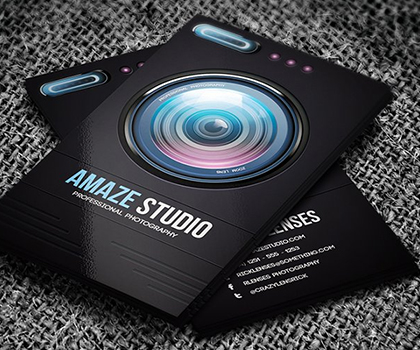 Stylish Photographer Business Card PSD Templates