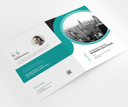 Creative Bi-Fold Brochure Template Designs
