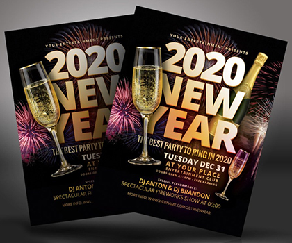 Post thumbnail of New Year Christmas Flyer Templates