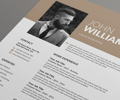 20 Best Impressive Resume CV Templates