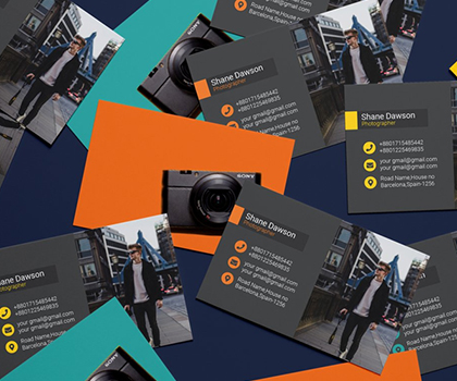 Elegant Photographer Business Card Templates