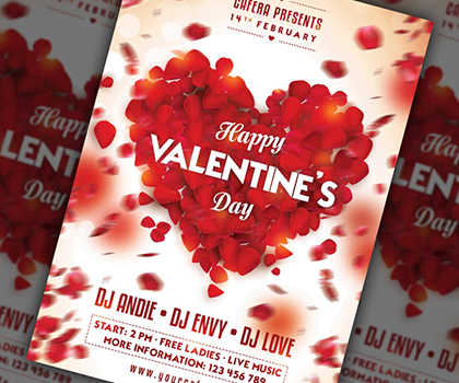 Post thumbnail of Stylish Valentines Day Flyer Templates