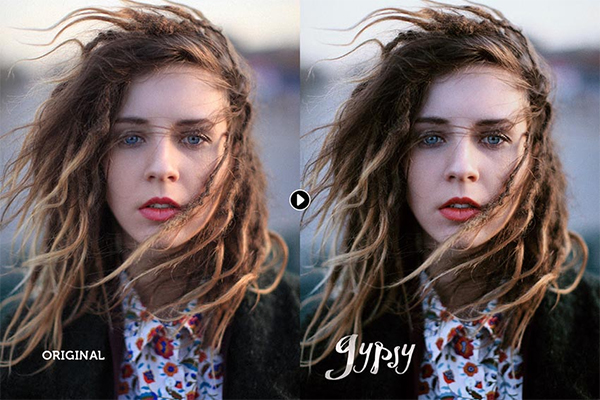 Gypsy Portrait Photoshop Actions