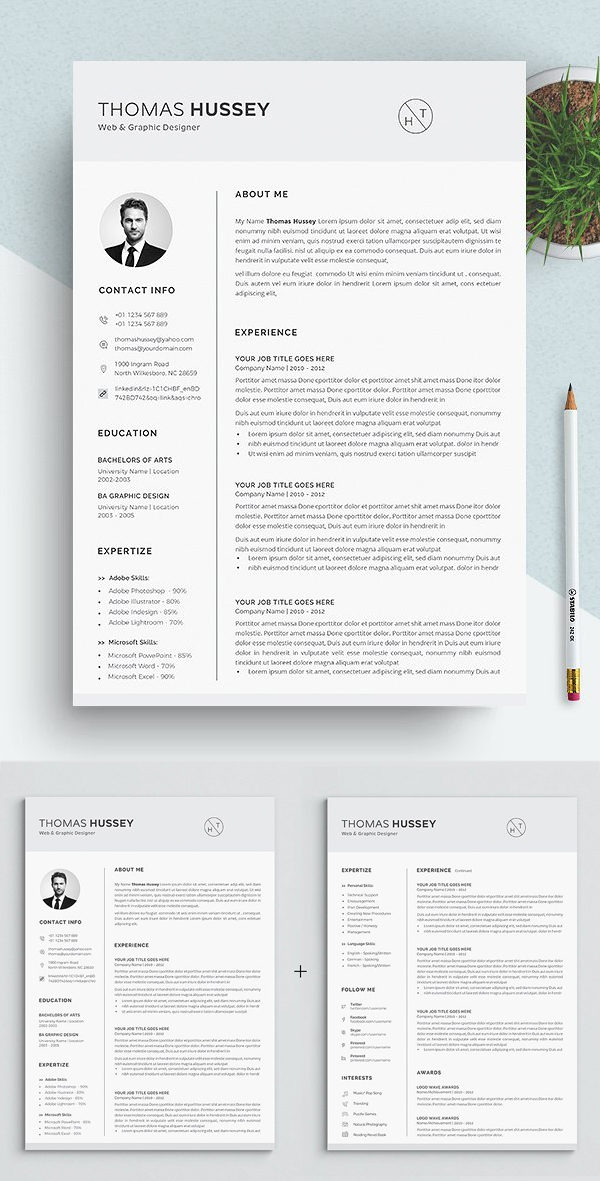 Resume / CV Tempalte (5 Pages)
