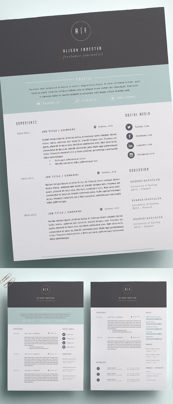 Perfect Resume Template | CV Template
