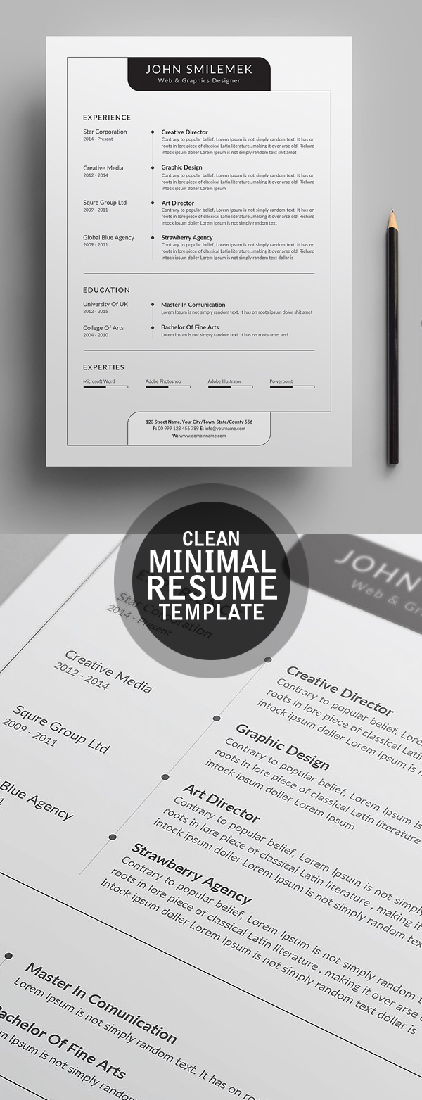Clearn Minimal CV / Resume Template