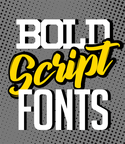 Post thumbnail of 15 Best Bold Script Fonts for Designers for 2020