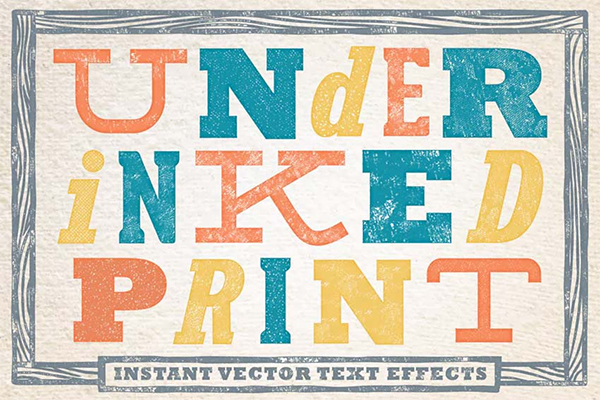 Under-Inked Print - Halftone Vector Text Effects