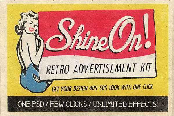 Shine On - Retro Advertisement Kit