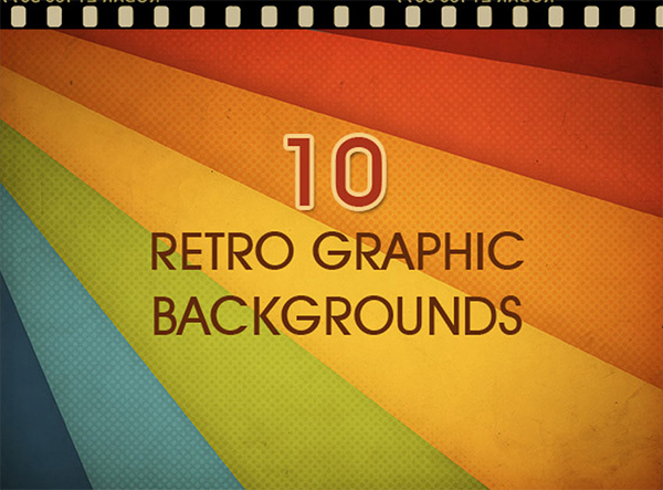 10 Retro Graphic Backgrounds