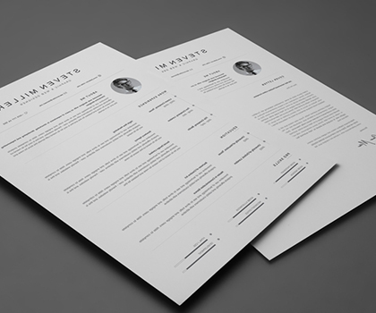 Professional Resume Templates with CV Cover Letters