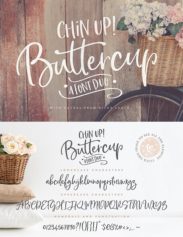 Chin Up Buttercup Font