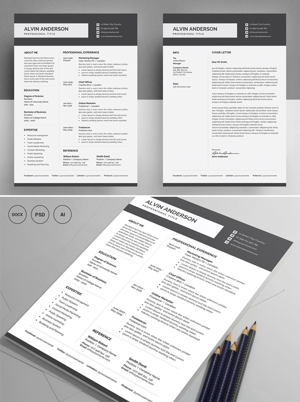High Quality Resume Template / CV