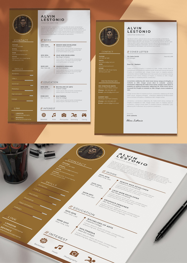 Awesome Profesional Resume / CV Template