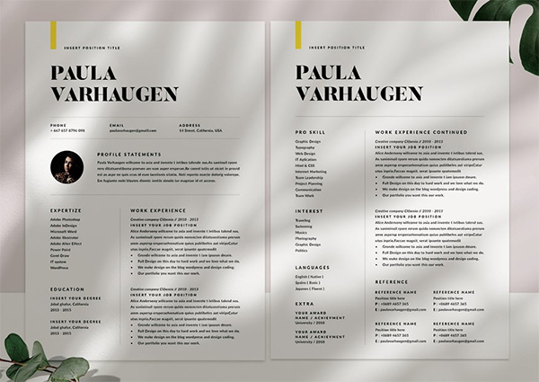 Modern Resume & Cover Letter Template