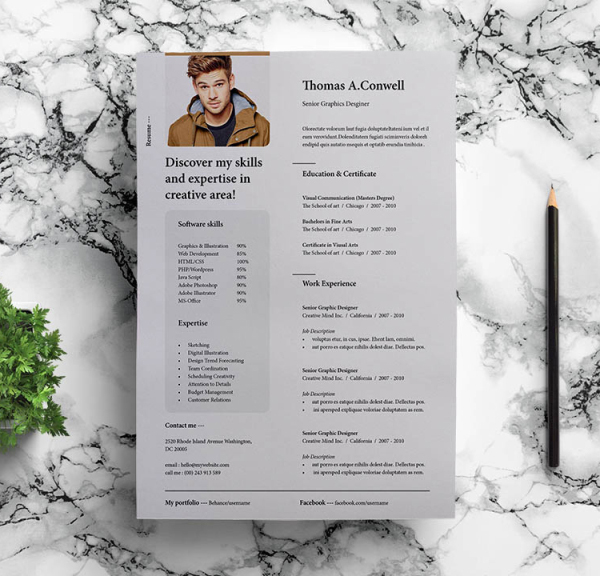 Free Professional Modern Resume Template