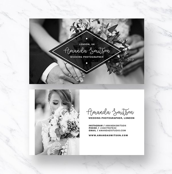 Business Card for Photographer / PSD Template