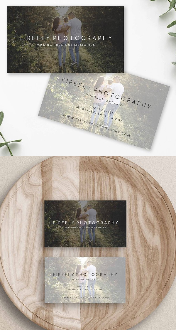 Beautiful Photography Business Card Template