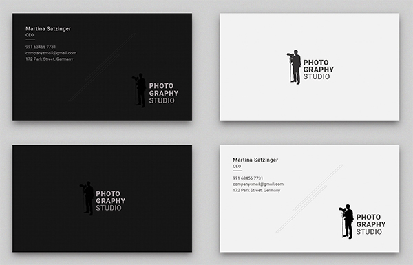 Simple & Clean Photography Business Card Template