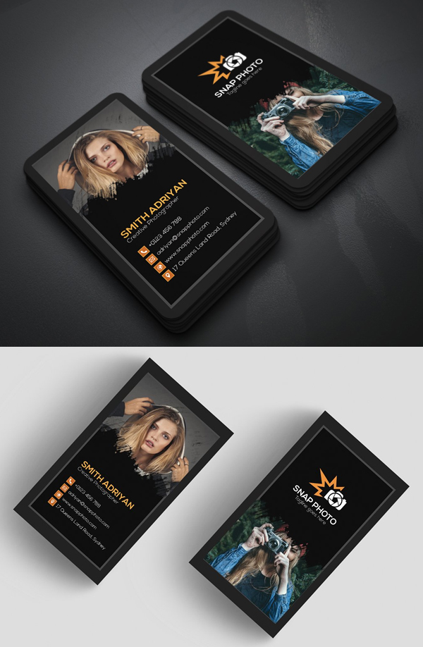 Dark Photography Business Cards