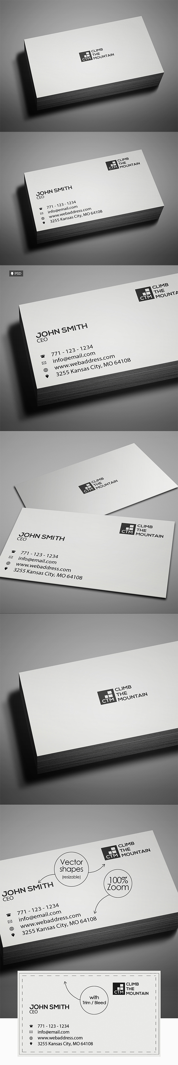 Minimal Clean Business Card Template