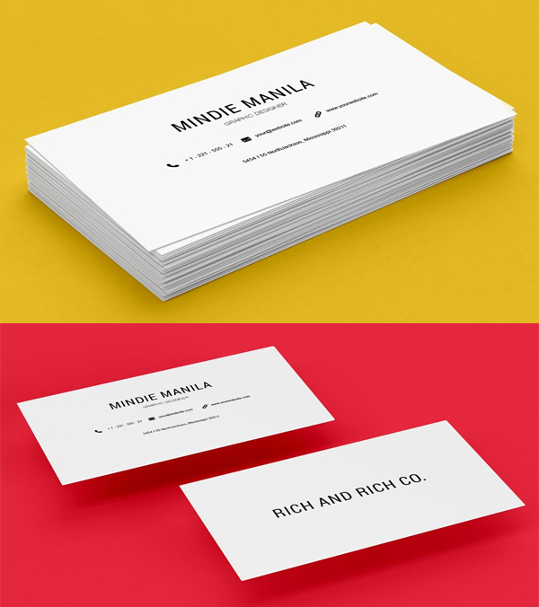 Simple Elegant White Business Card