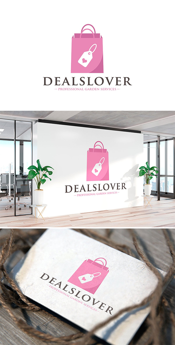Deals Love Logo Template