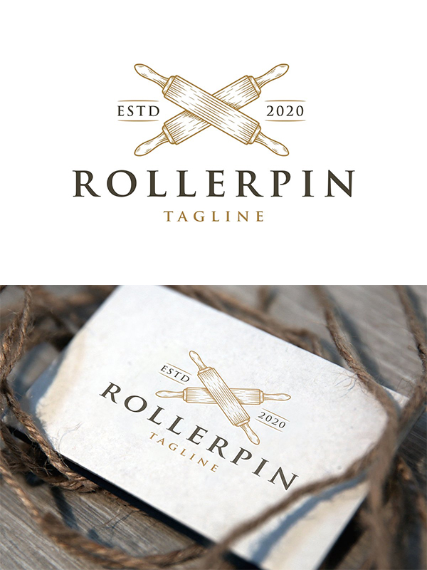 Cooking Roller Pin Logo Template