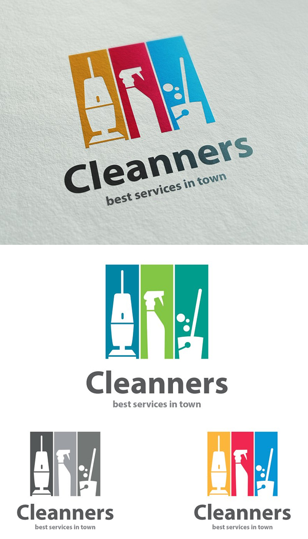 Cleanners Logo Template