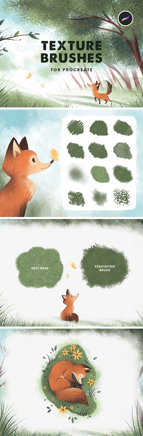 Texture Procreate Brushes
