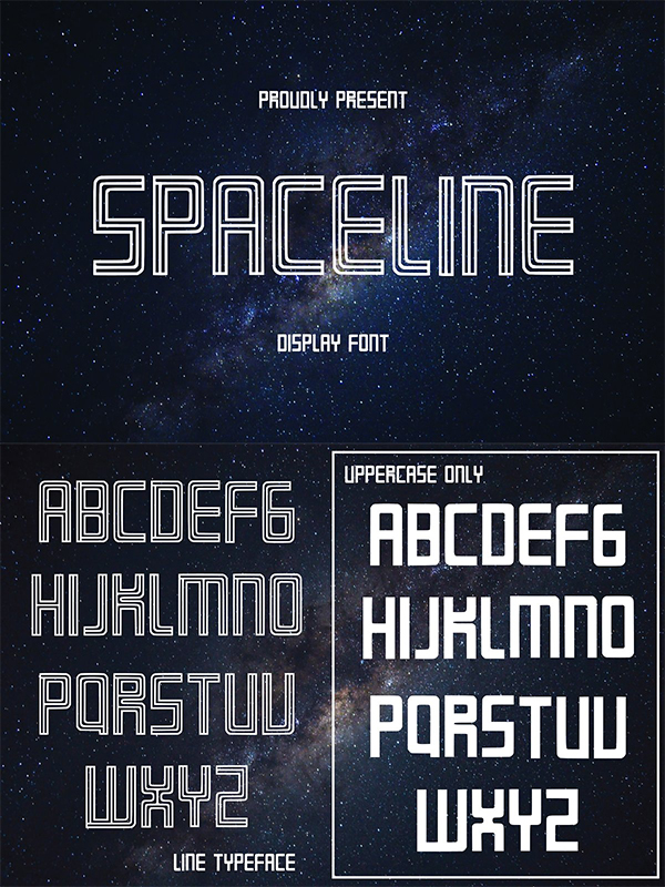 SPACELINE - Display Font
