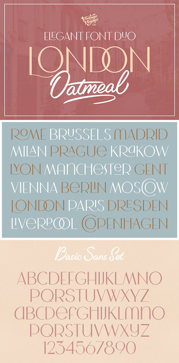 London Oatmeal Stylish Font