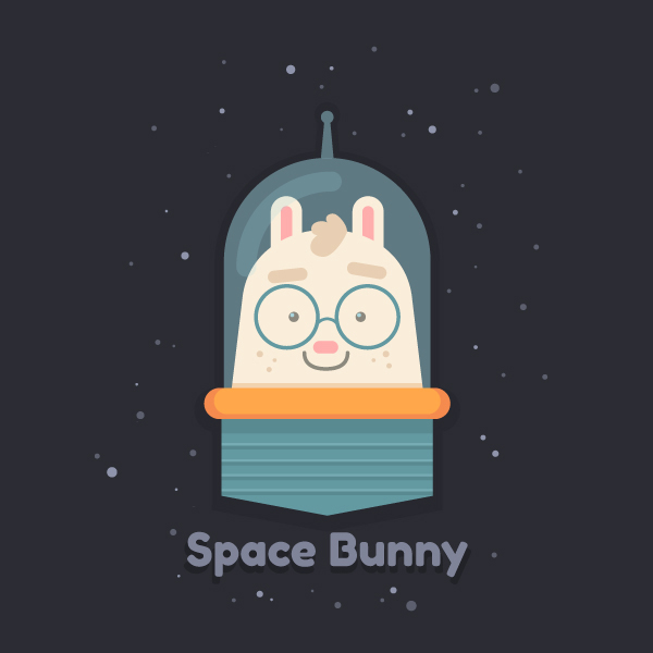 How to Draw a Cartoon Space Bunny in Adobe Illustrator