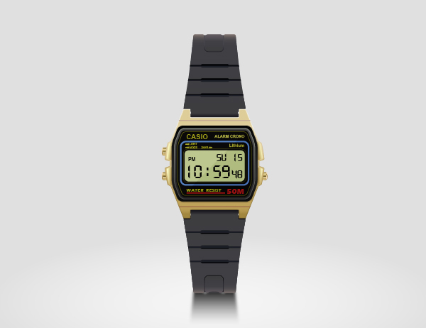 Create a Casio Watch in Adobe Illustrator