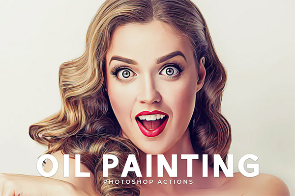 Elegant Oil Painting Photoshop Actions
