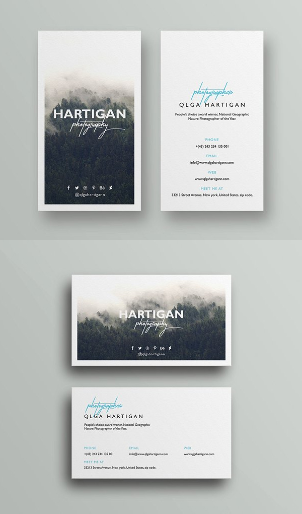 Classy Photography Business Card