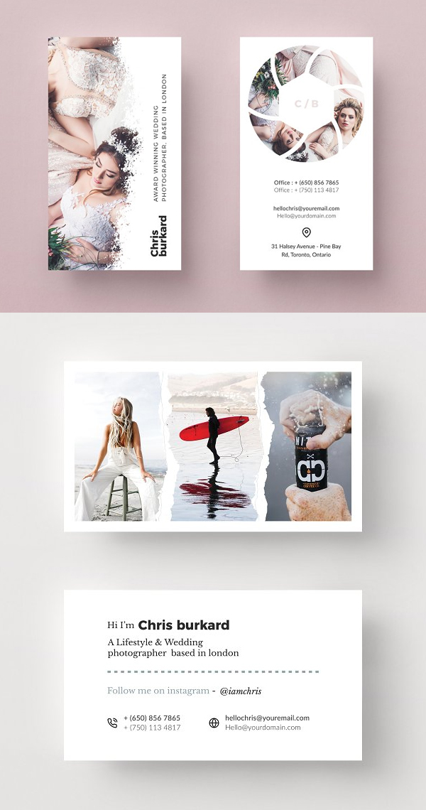 Elegant Photography Business Card Templates
