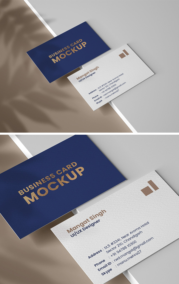 Free Personal Business card mockup