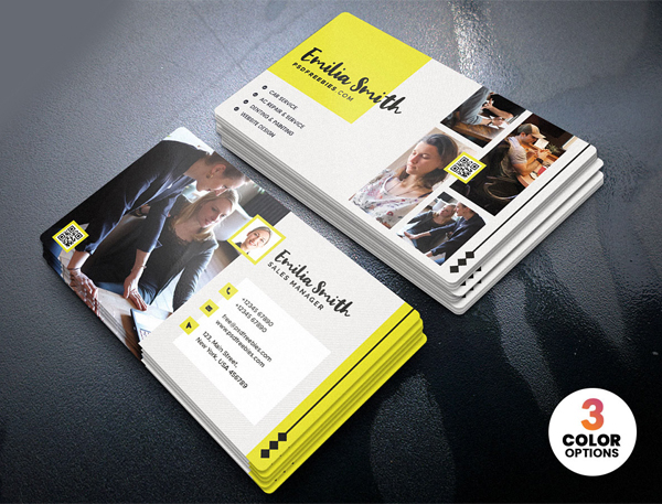Free Creative Freelancer Business Card PSD
