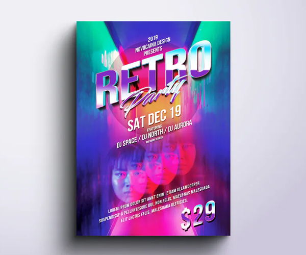 Retro Party Flyer & Poster