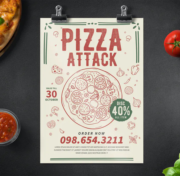 Awesome Pizza Party Flyer